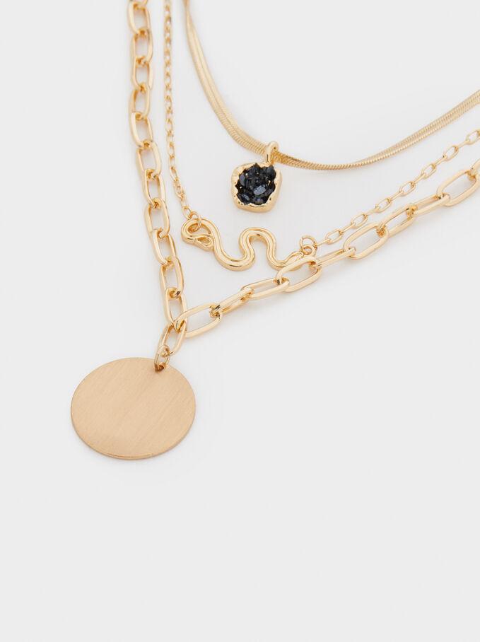 9109 Pendentif cœur or noir 40 mm PK1 UK boutique  *