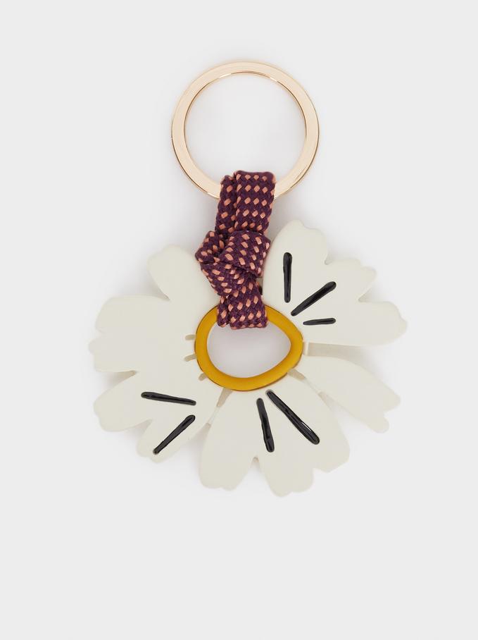 Flower Key Chain, Multicolor, hi-res