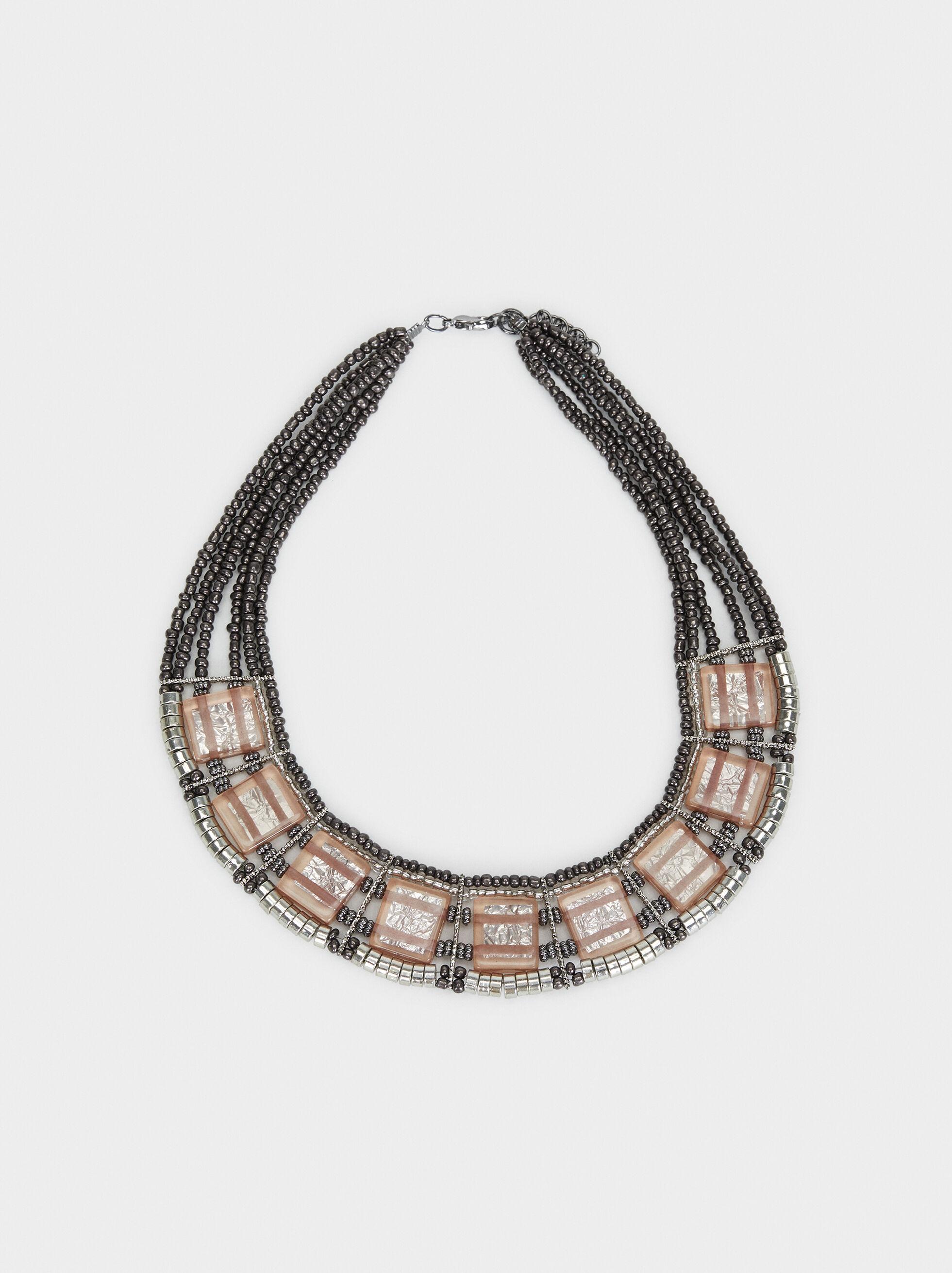 Cosmic Pink Short Necklace, Multicolor, hi-res