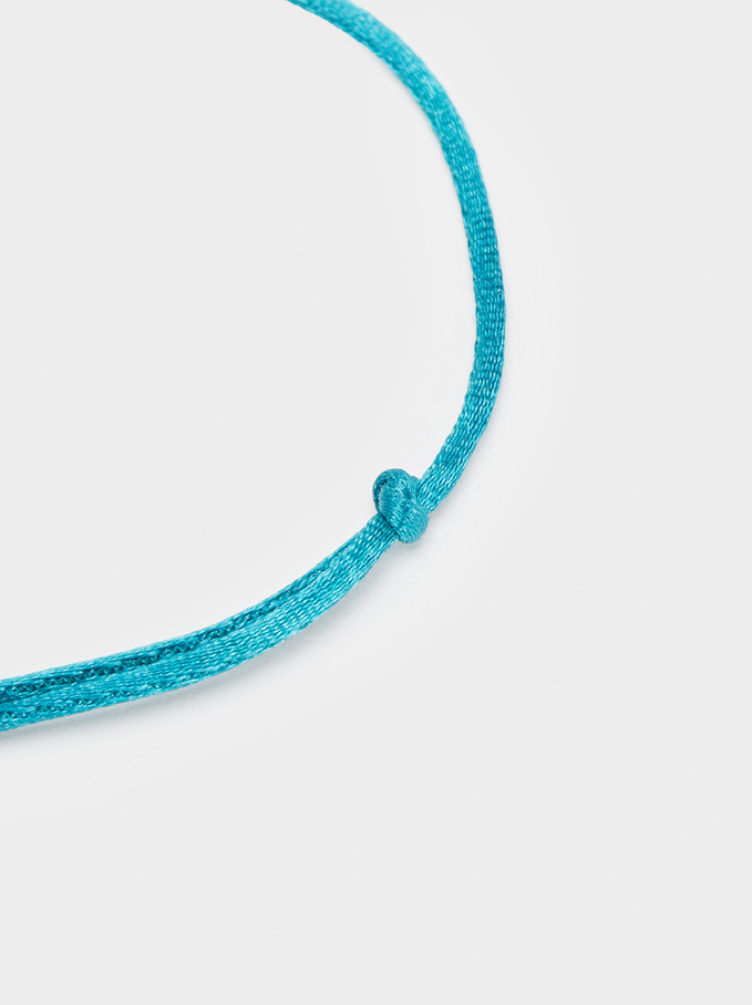 Bracelet Réglable En Cordon Arbre, Gris, hi-res