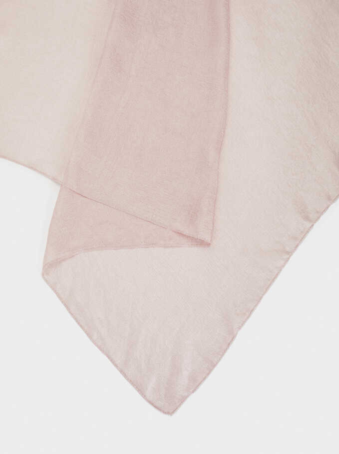 Satin Finish Pashmina, Pink, hi-res