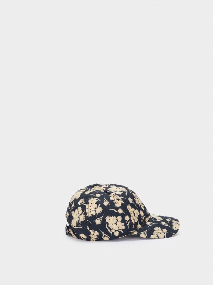 Casquette À Imprimé Floral, Noir, hi-res