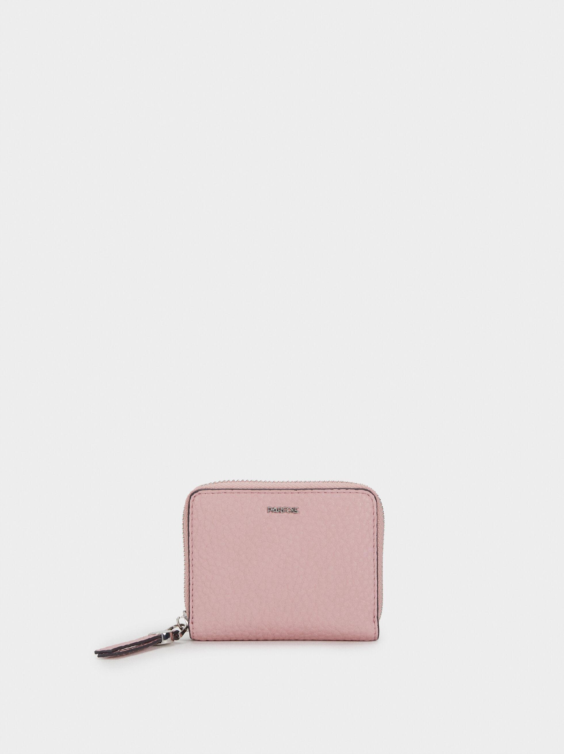 Medium Textured Card Holder, Pink, hi-res