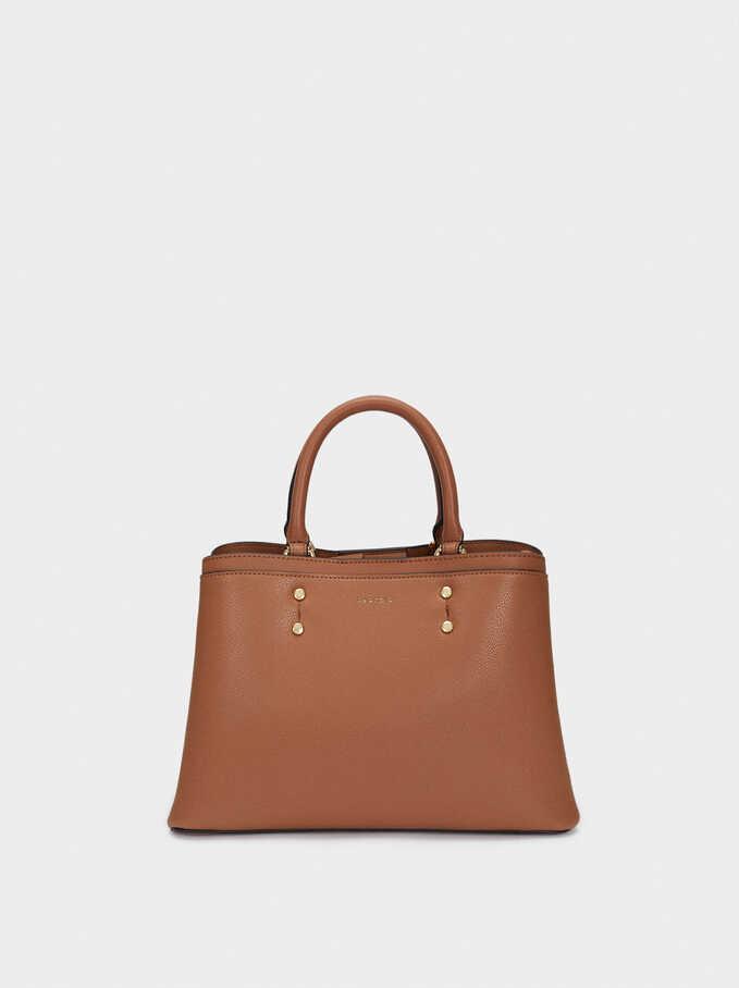 Tote Bag With Removable Shoulder Strap, Camel, hi-res
