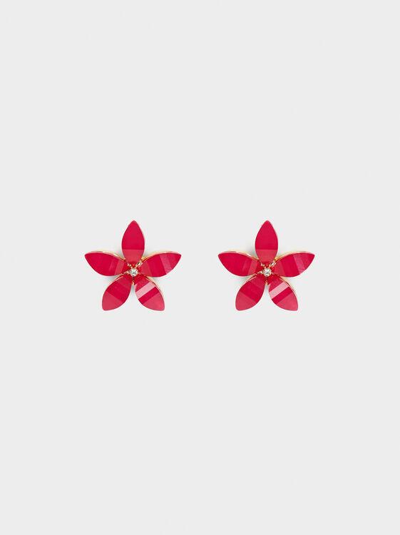 Wild Color Stud Earrings, Pink, hi-res
