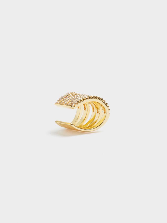 Gold Earcuff, Golden, hi-res
