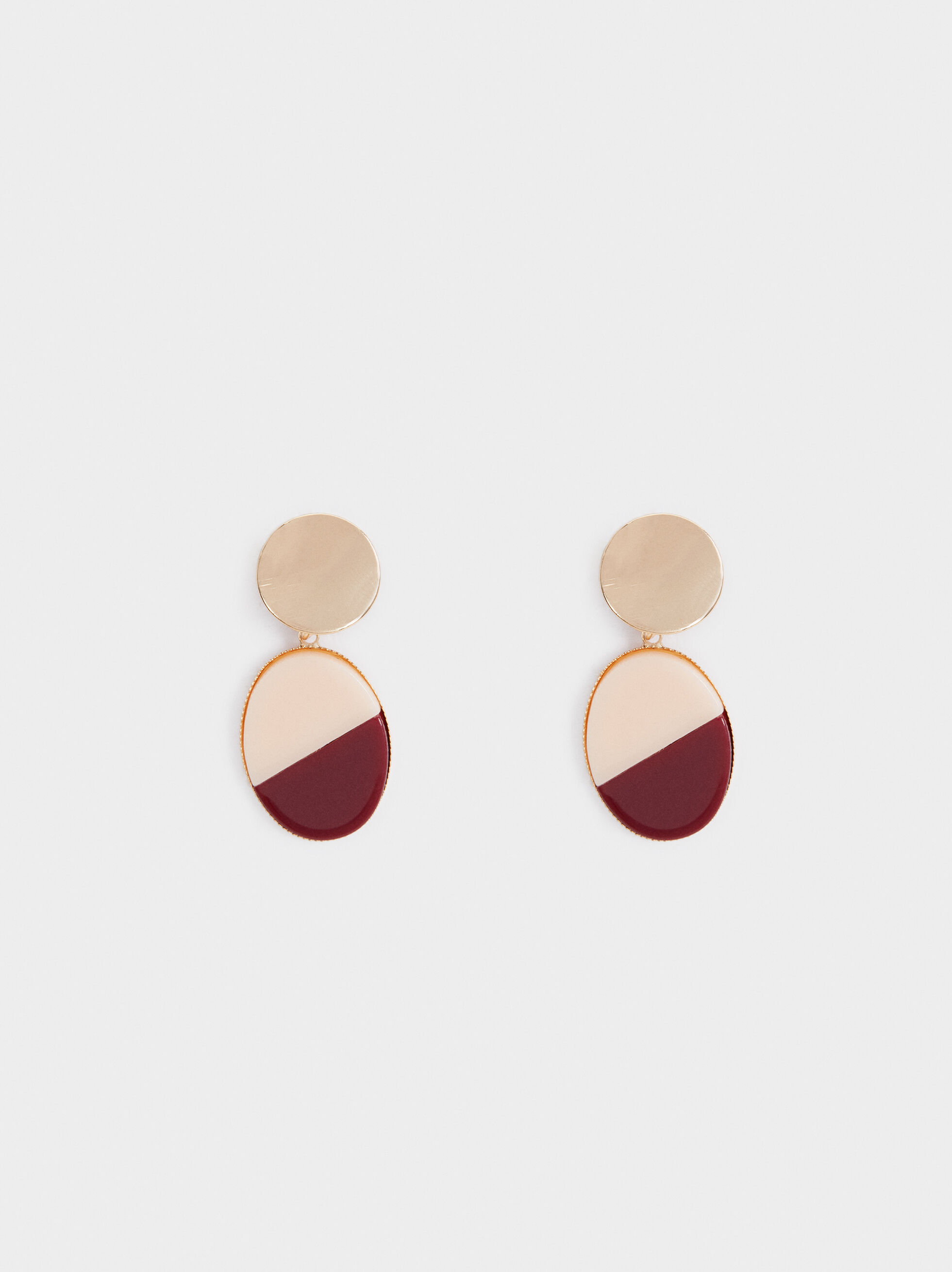Land Two-Tone Medium Earrings, Multicolor, hi-res