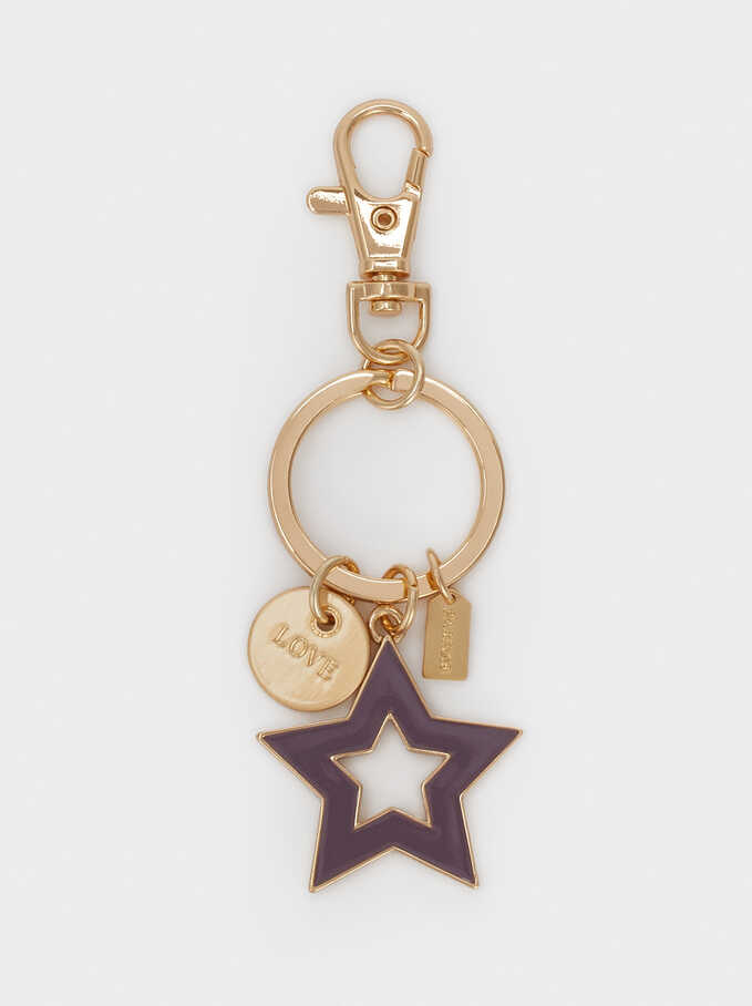 Star Key Chain, Violet, hi-res