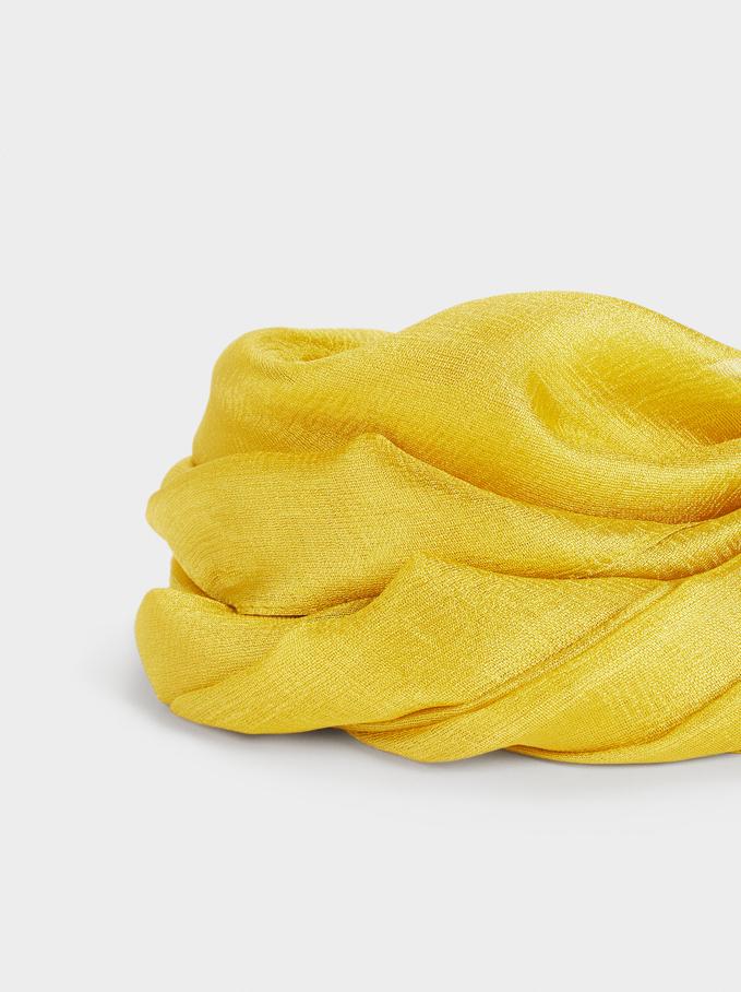 Plain Wedding Scarf, Mustard, hi-res