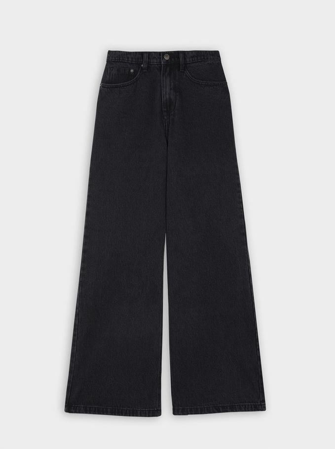 Long Jeans, Black, hi-res