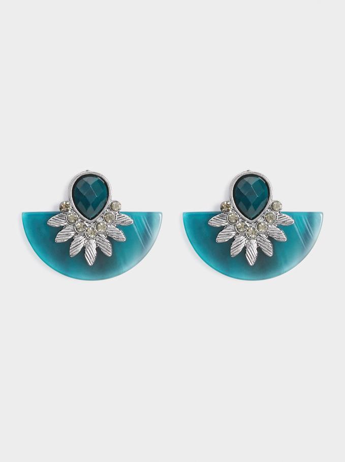 Medium Botanic Party Earrings, Grey, hi-res