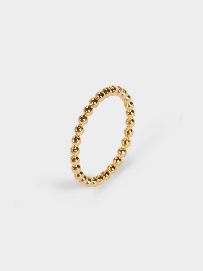 Golden Stainless Steel Ring, Golden, hi-res