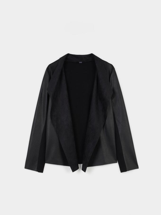 Open Jacket, Black, hi-res