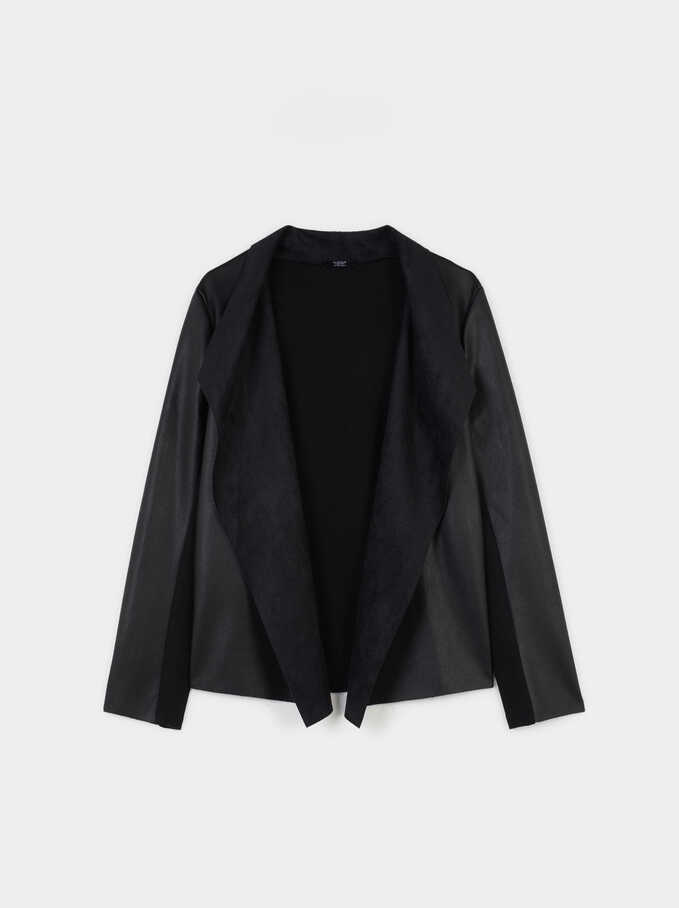 Open Jacket, Black, hi-res