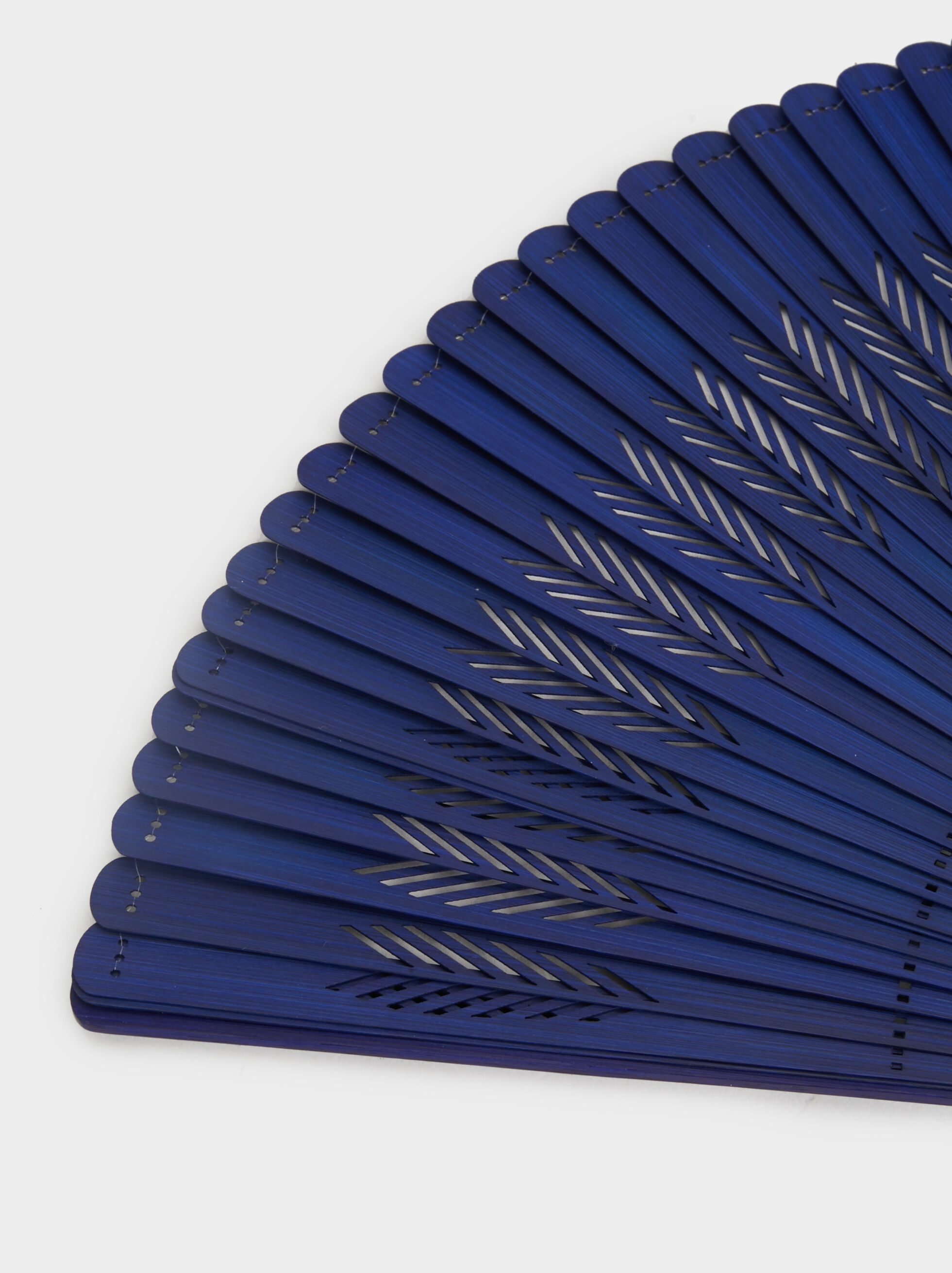 Fan With Tassel, Blue, hi-res