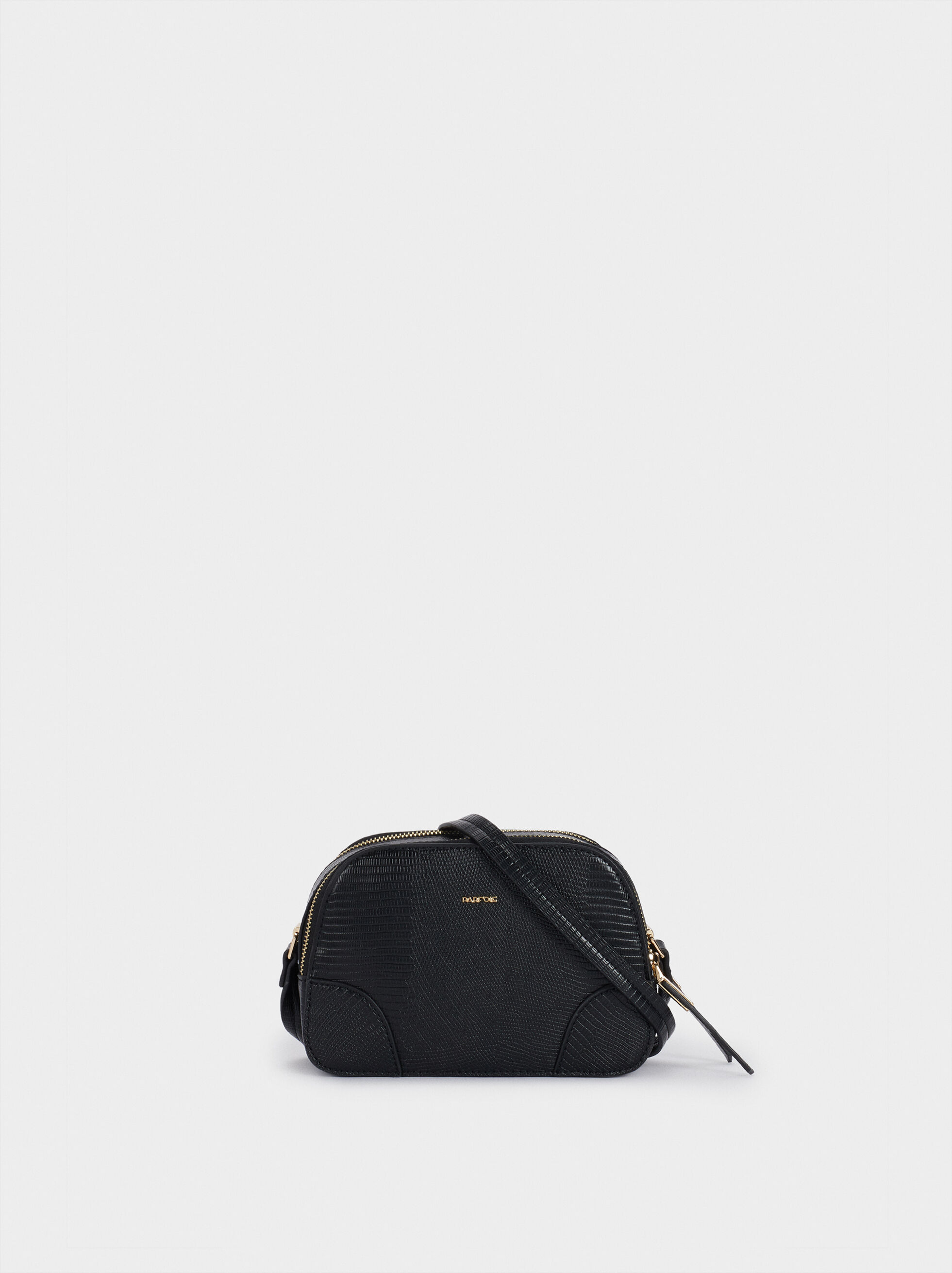 Crossbody Bag With Embossed Animal Print, , hi-res