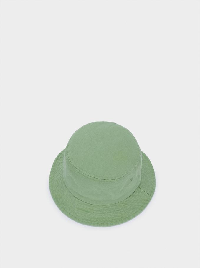 Gorro Bucket De Algodón, Verde, hi-res