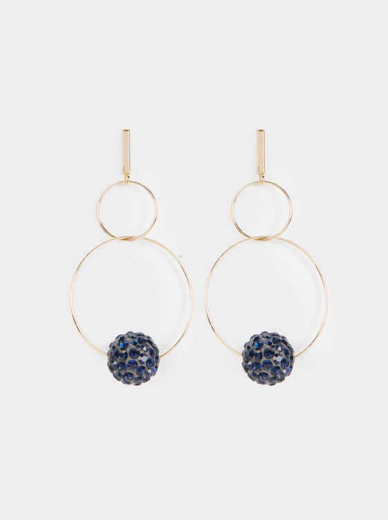 Large Circle Earrings, , hi-res