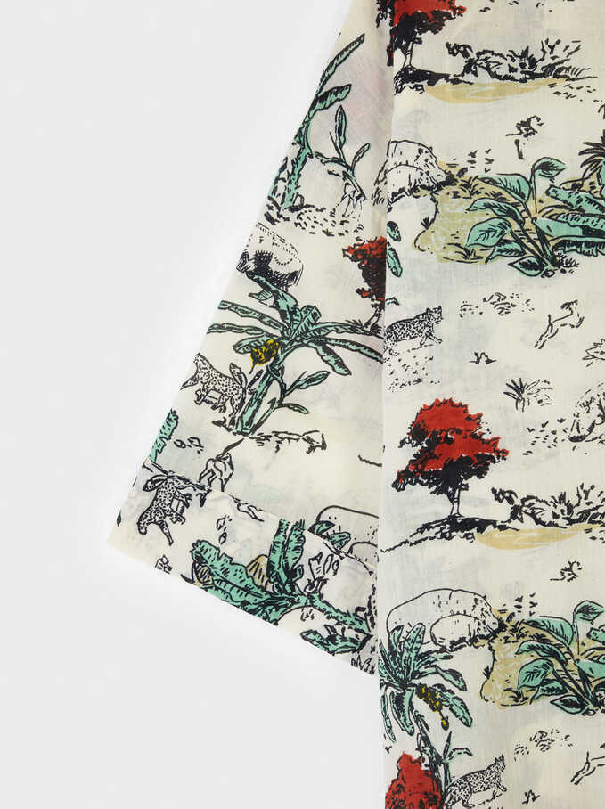 Camisa Estampada, Crudo, hi-res