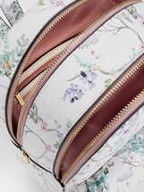Floral Print Backpack With An Outer Pocket, Violet, hi-res