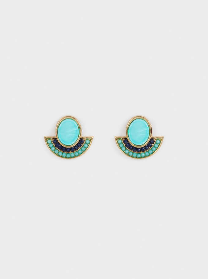 Recife Stud Earrings, Multicolor, hi-res
