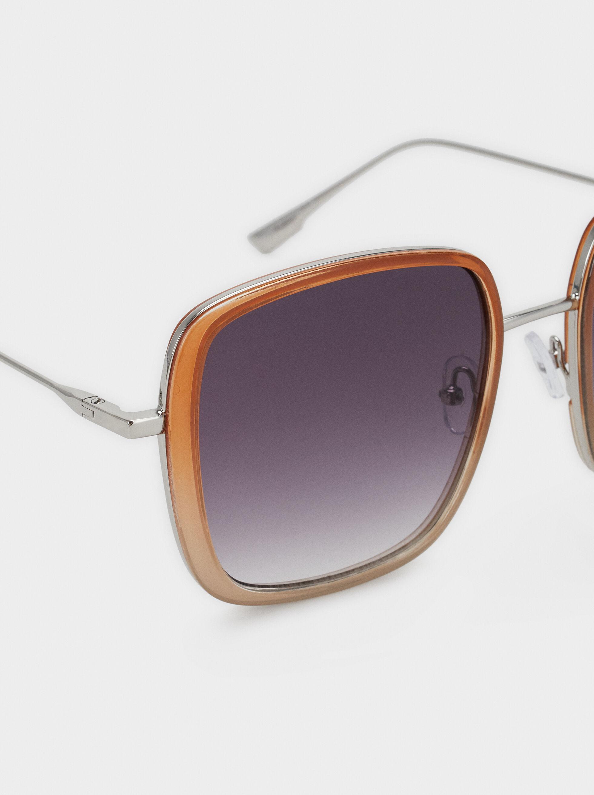 Square Sunglasses, Camel, hi-res