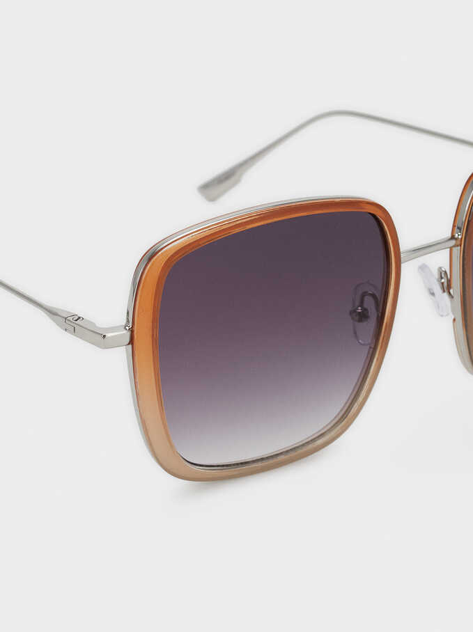 Square Sunglasses, Camel, hi-res