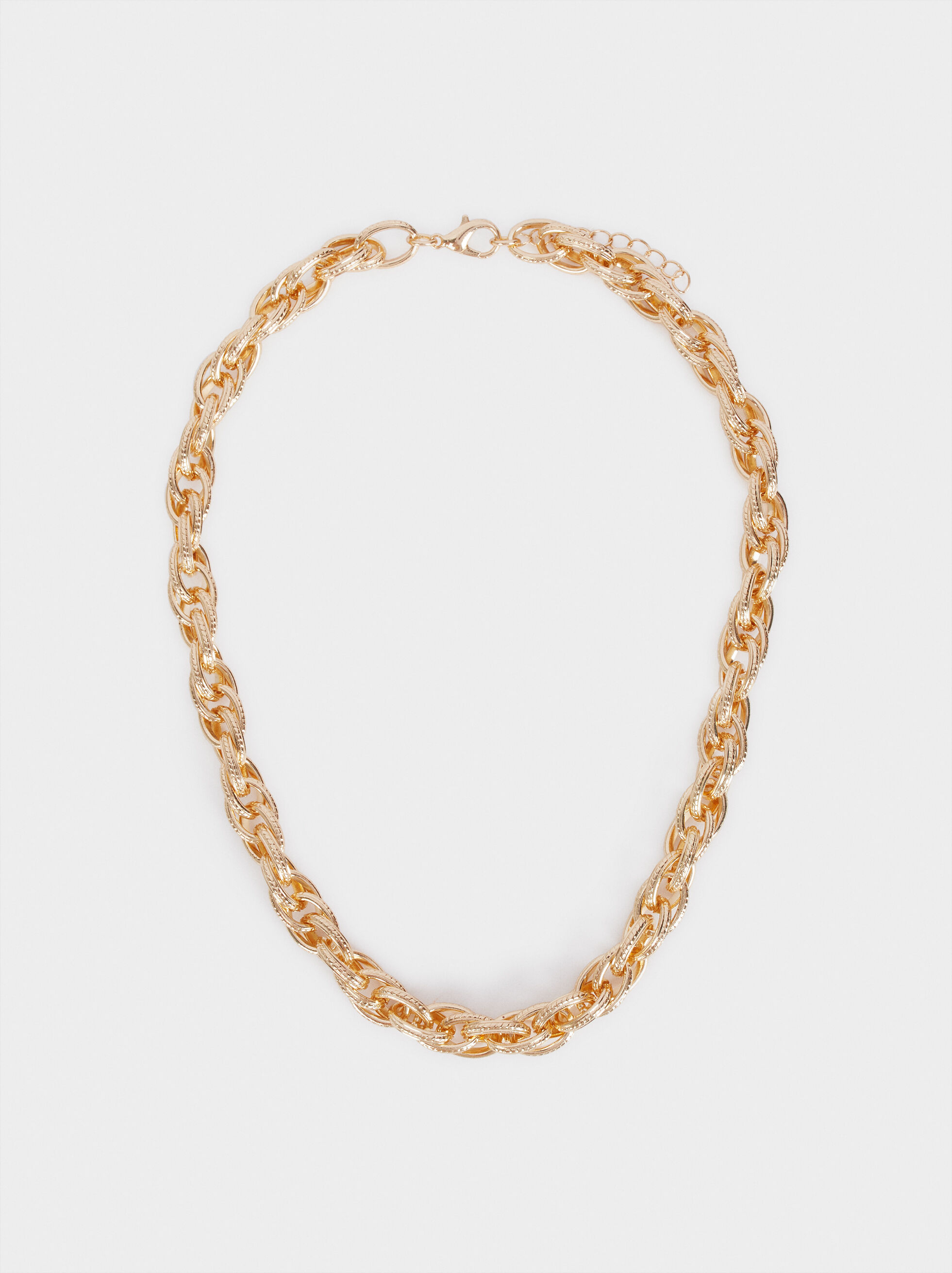Short Necklace With Gold Links, Golden, hi-res