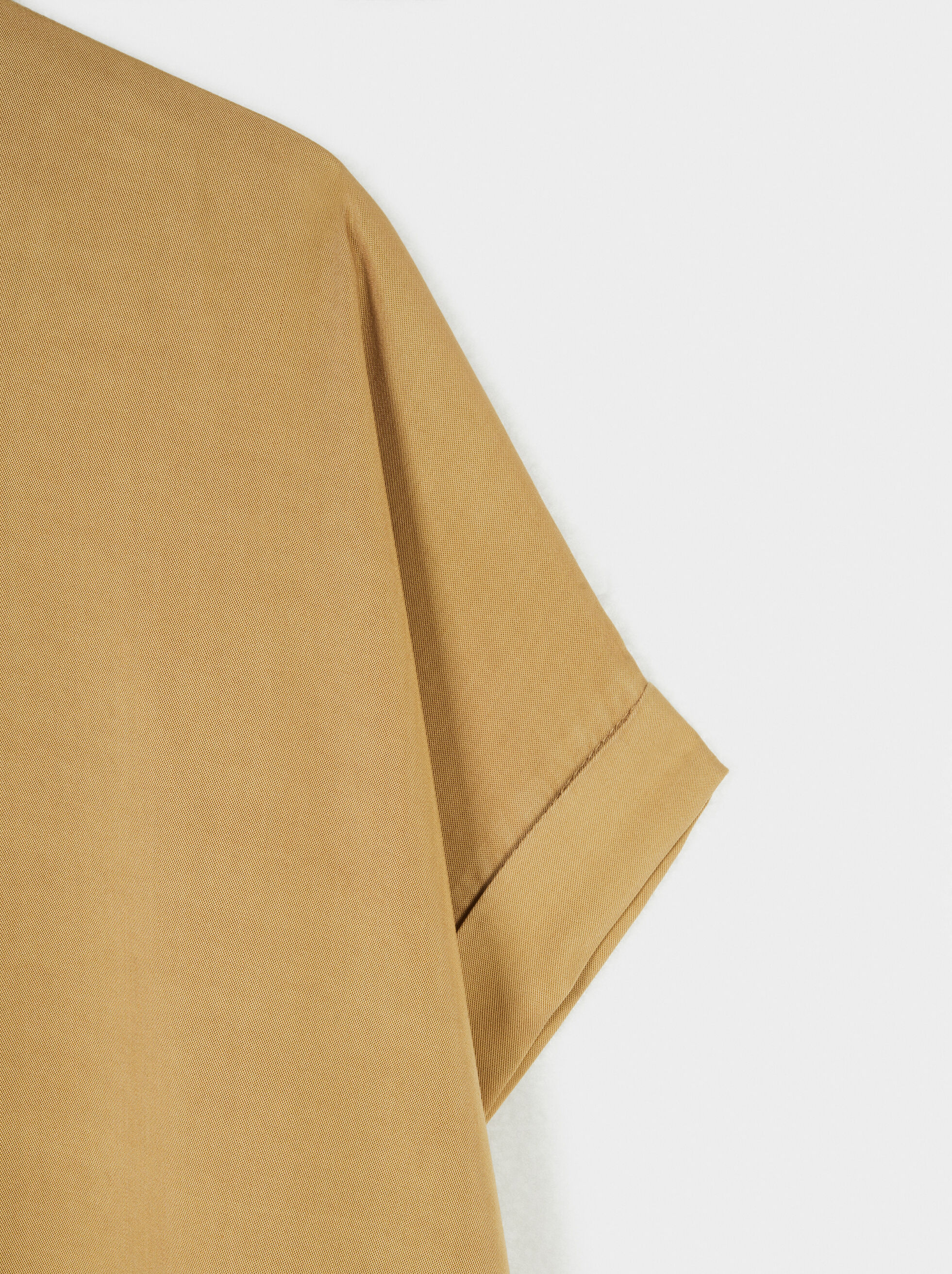 Online Exclusive Round-Neck Dress, Camel, hi-res