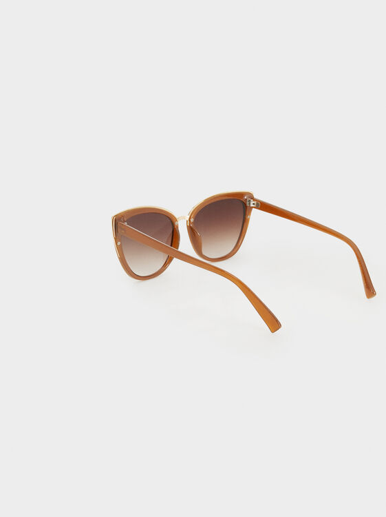Cateye Sunglasses, Camel, hi-res