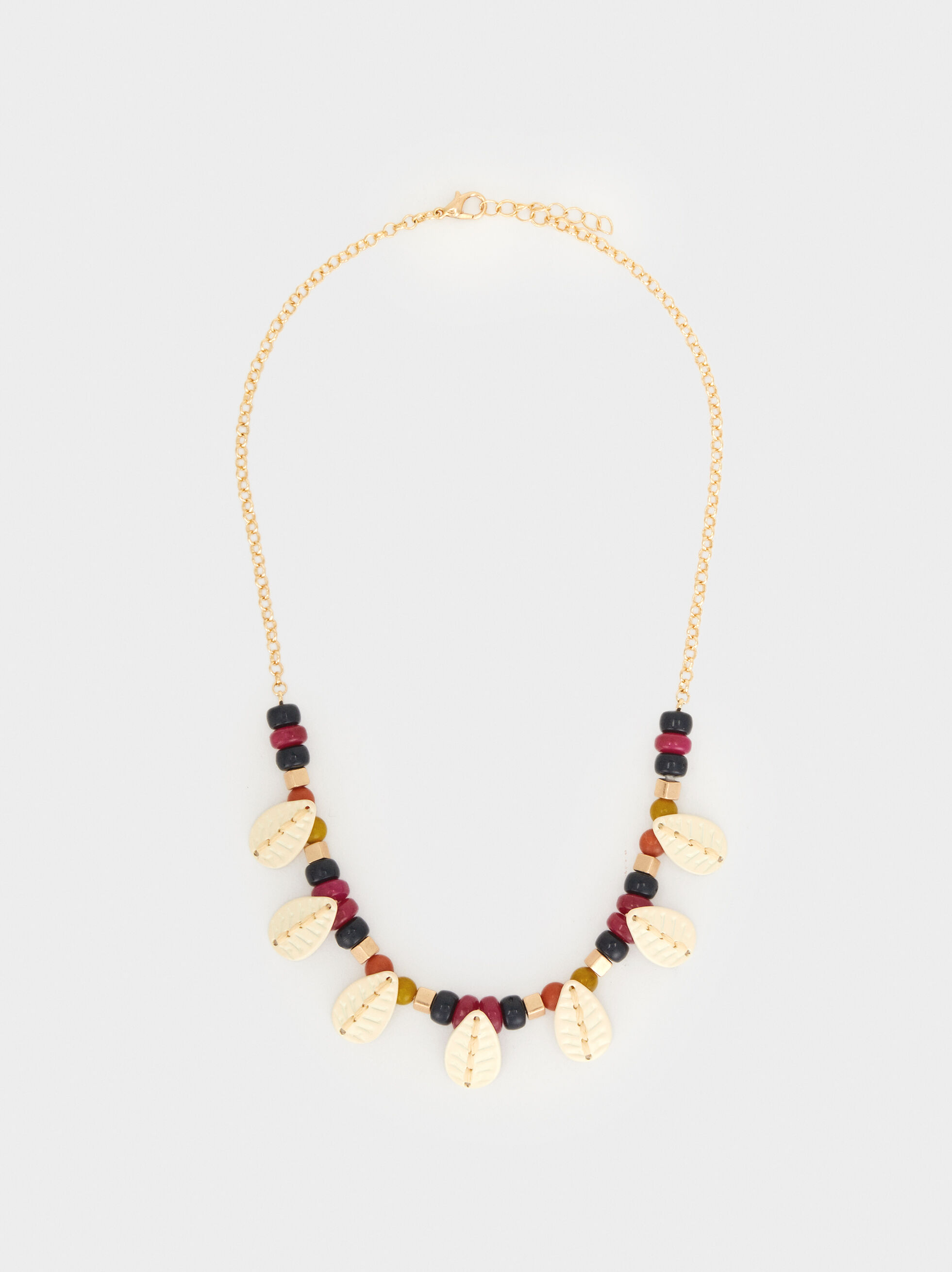 Wild Color Short Necklace, Multicolor, hi-res