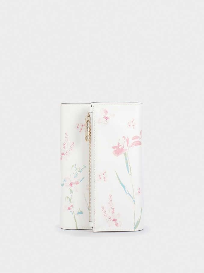 Bloc De Notas Con Estampado Floral, Crudo, hi-res