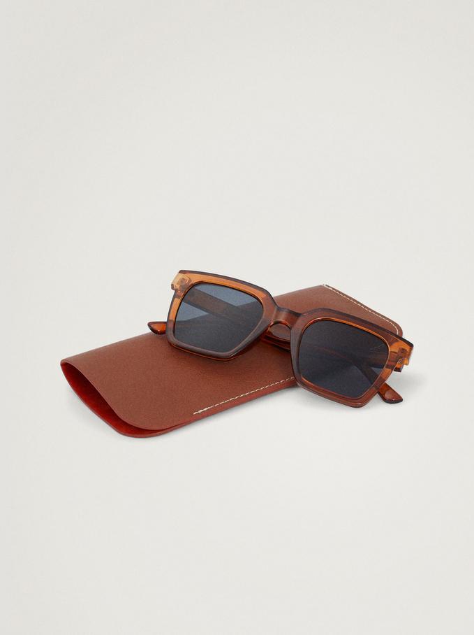 Sunglasses With Resin Frame, Orange, hi-res