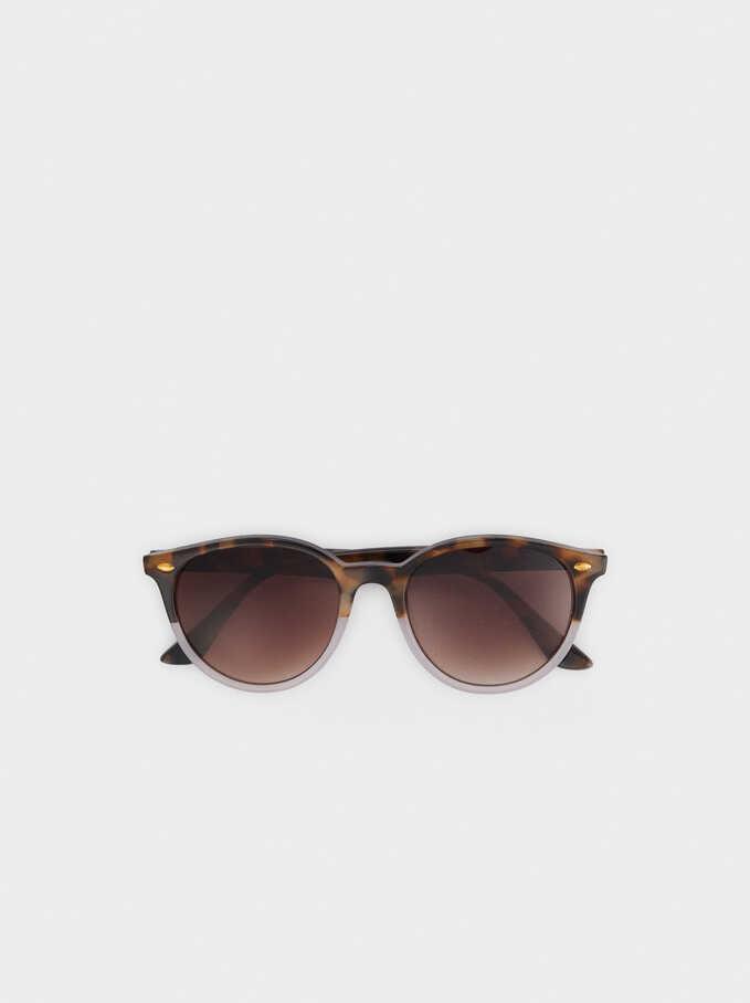 Gafas De Sol Redondas, Marrón, hi-res