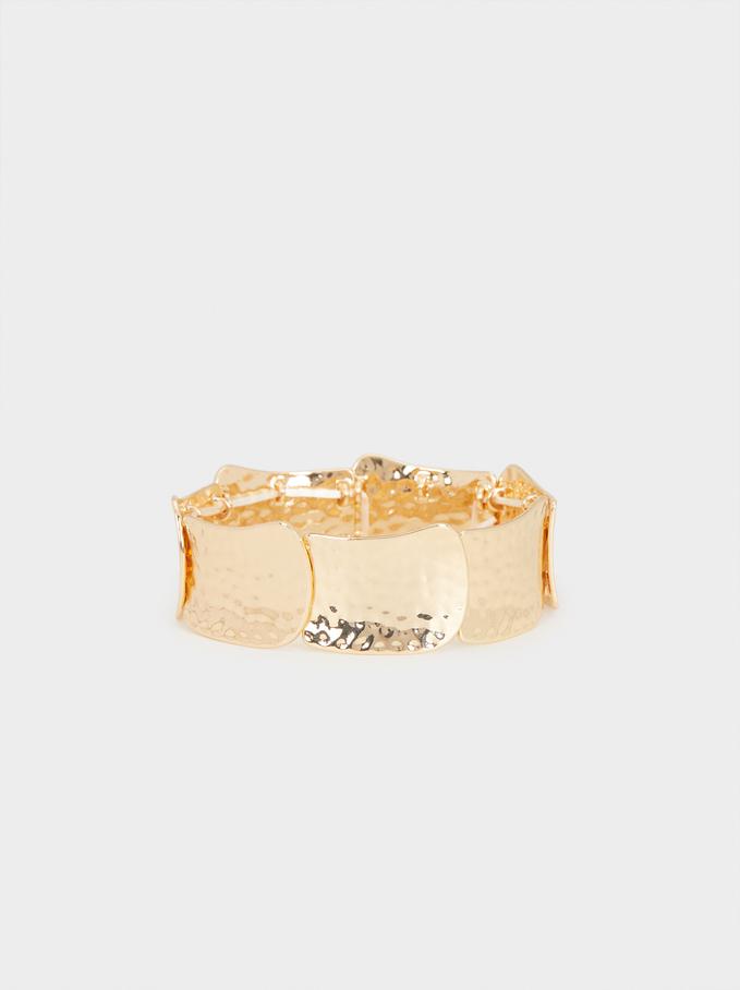 Gold Elastic Bracelet, Golden, hi-res
