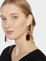 Savage Sparkle Long Earrings, Multicolor, hi-res