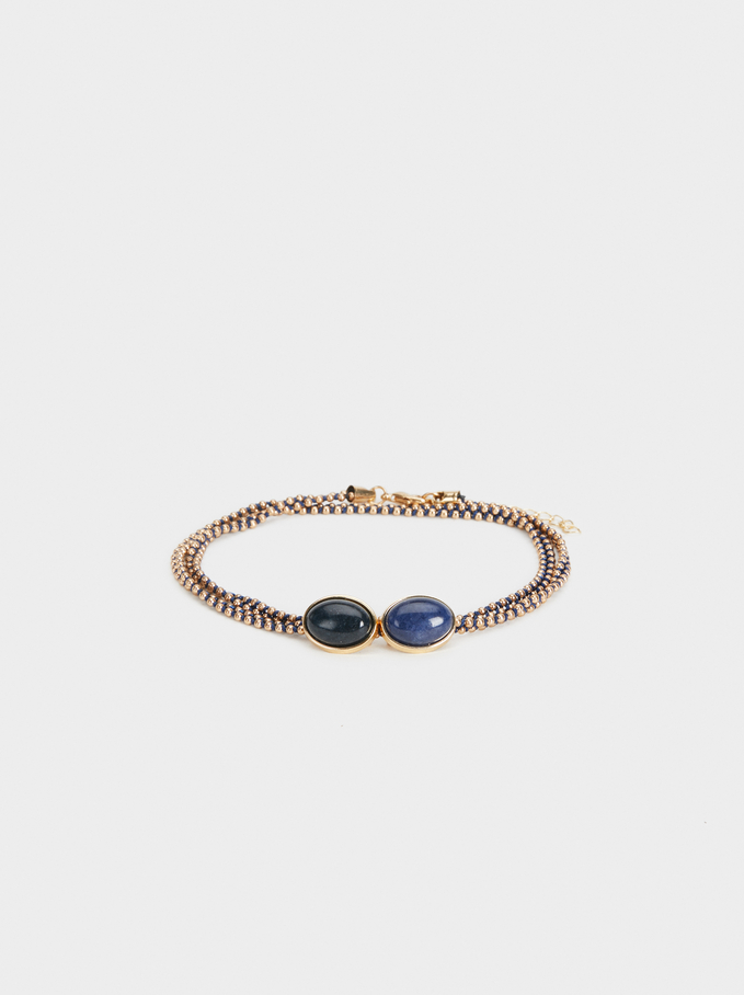 Bracelet With Stone Motif, Multicolor, hi-res