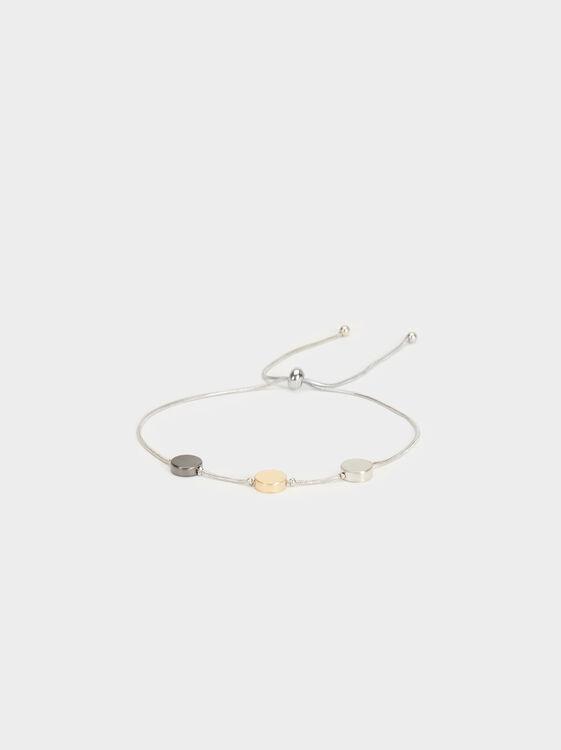 Multicoloured Adjustable Bracelet, , hi-res