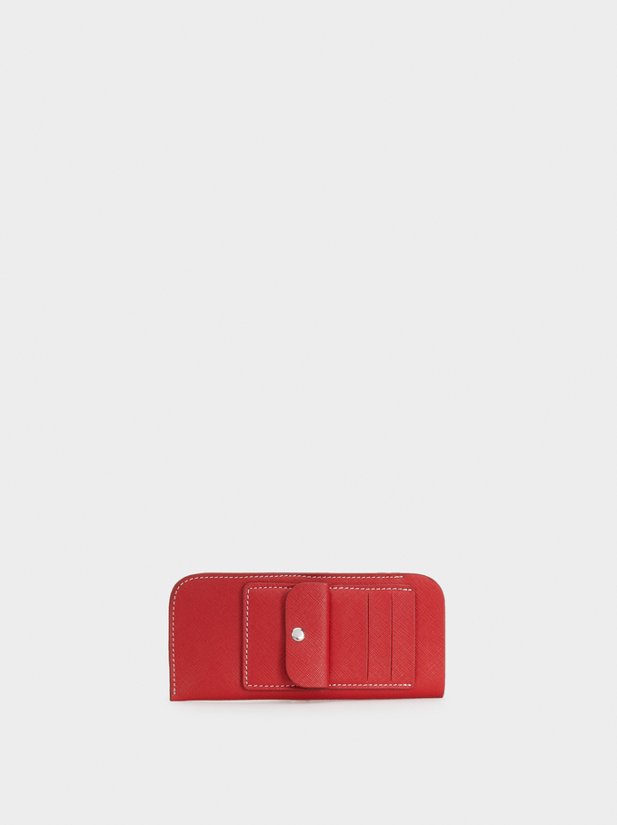 Sunglasses Case With Card Holder And Coin Pouch, Red, hi-res