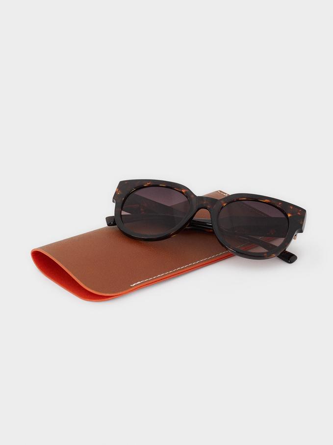 Resin Sunglasses, Brown, hi-res