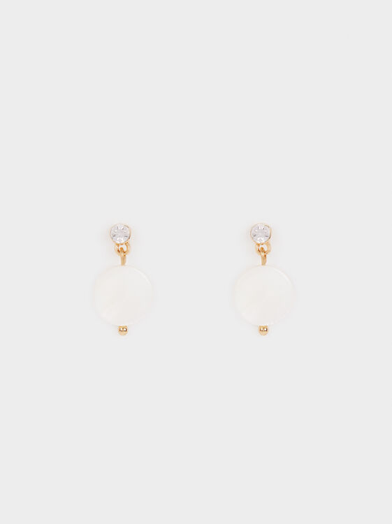 Studs With Rhinestone Detail, , hi-res
