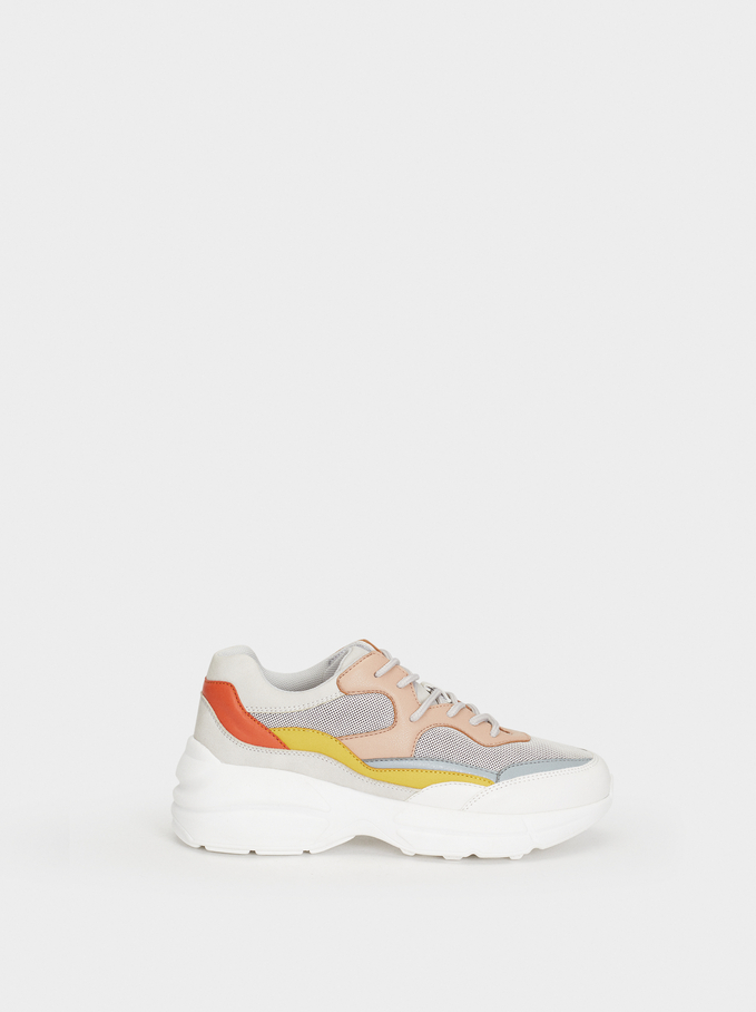 Maxi Sole Trainers, Multicolor, hi-res