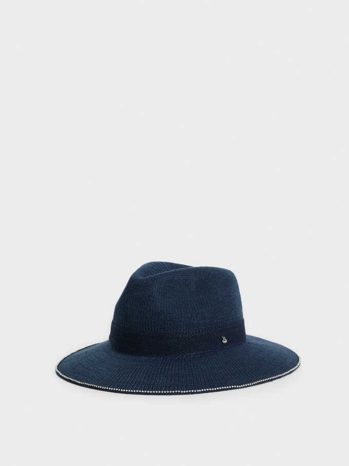 Knitted Hat, Navy, hi-res