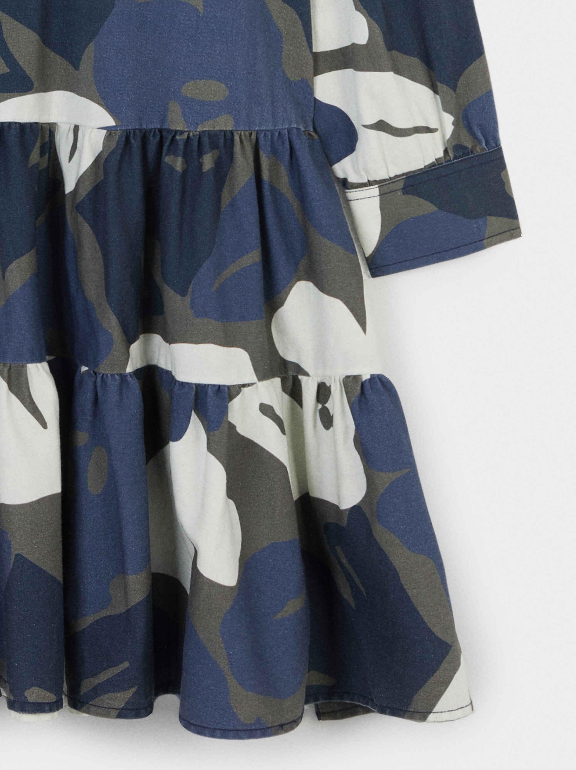 Vestido Estampado Floral, Azul, hi-res
