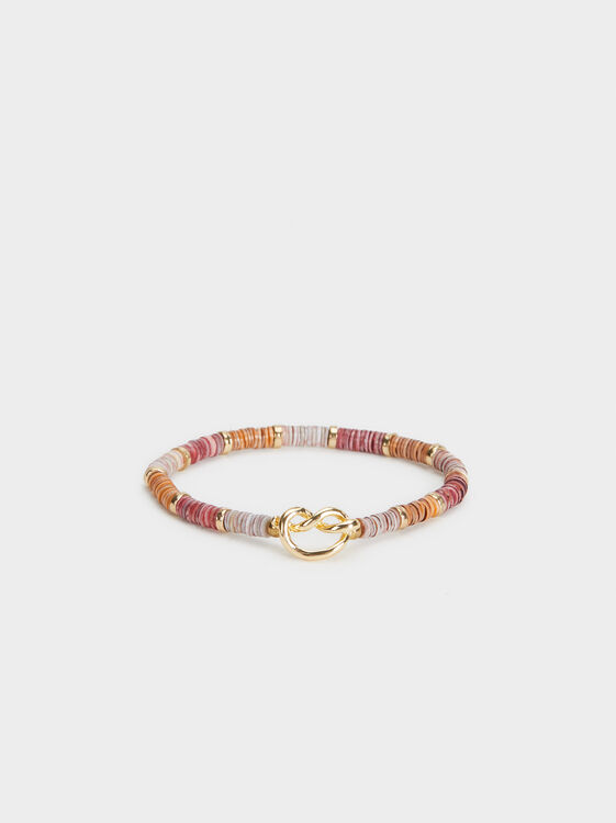 Land Elasticated Bracelet With Beading, Multicolor, hi-res