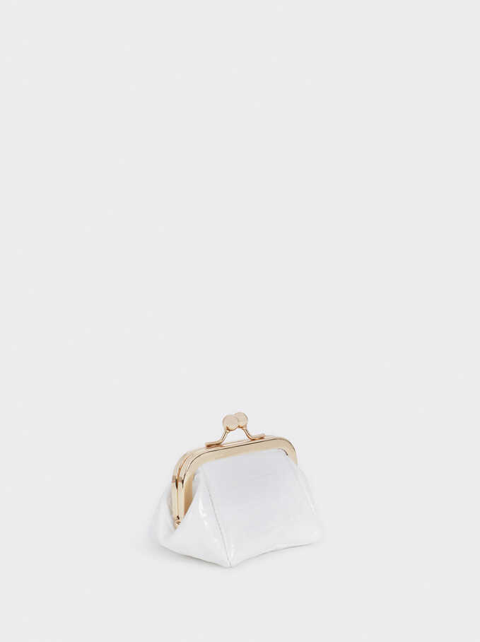 Purse With Clasp Fastening, White, hi-res
