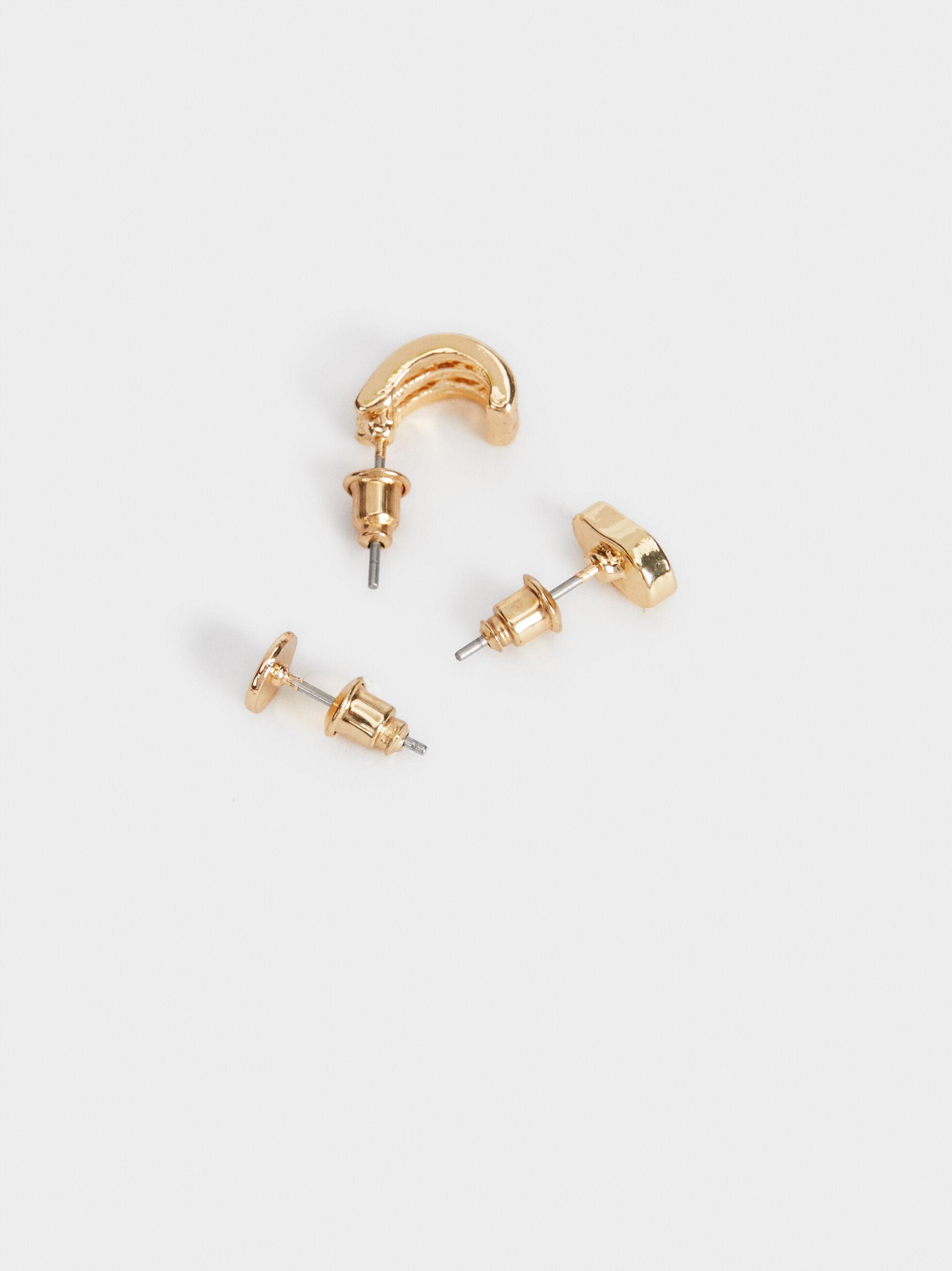 Fancy Pearls Set Of Earrings, White, hi-res