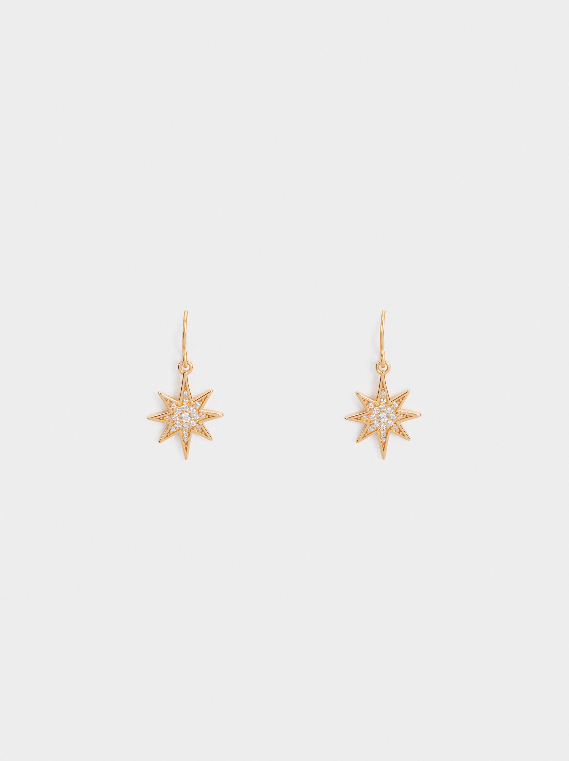 Medium 925 Silver Star Earrings, , hi-res