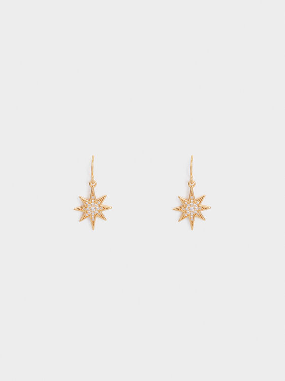 Medium 925 Silver Star Earrings, , hi-res