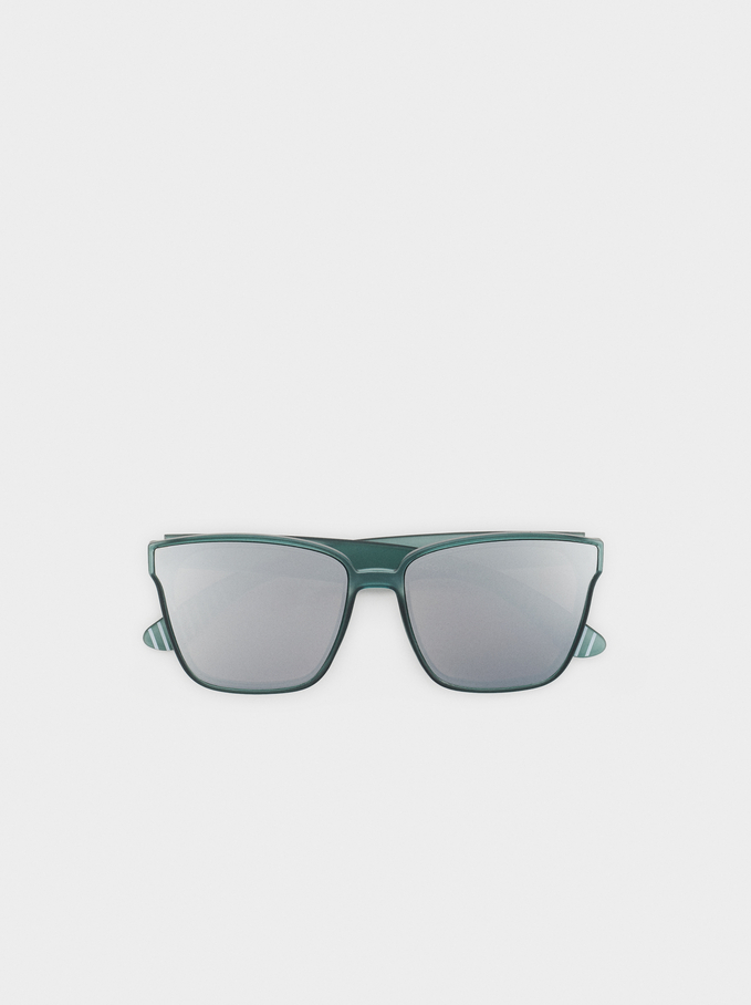 Resin Sunglasses, Green, hi-res